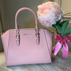 Michael Kors Large Ciara Satchel Blush Pink